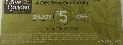 (10) Olive Garden Certificates!!  $50 Value!  12/31/20 Exp Date!