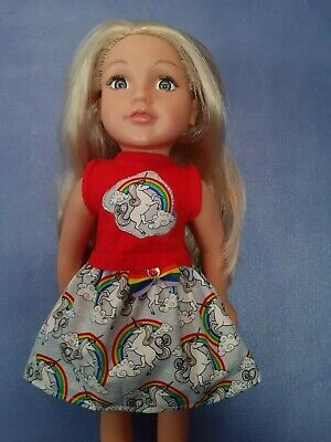 American Girl Our Generation Rainbow Unicorn Skirt And Top 18 Inch Doll Clothes