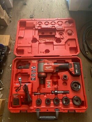 """Milwaukee M 18 Battery operated punch diver knock out set up to 2"""" dies"""