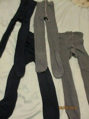 Several pair of girls Grey and Black tights ideal for school or everyday 5-6 yea