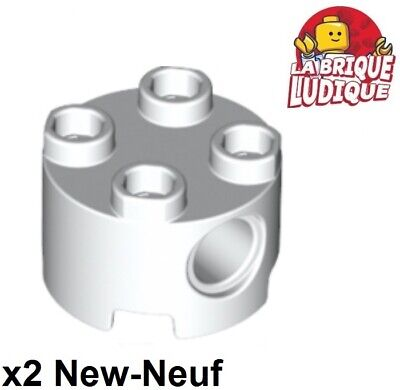2x Brick round decorated croix rouge flacon médicament 3062bpb059 NEUF Lego