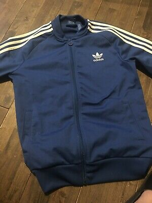 Boys/Girls Adidas track top blue age 13-14 years old