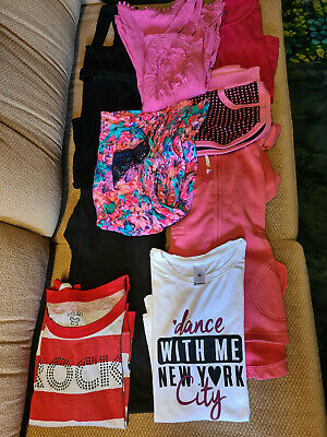 Girls Size 10 bundle of clothes 9 items summer and winter