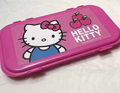 Hello Kitty Accessory Case Organizer Box Jewelry Case Trinket Dividers New Pink