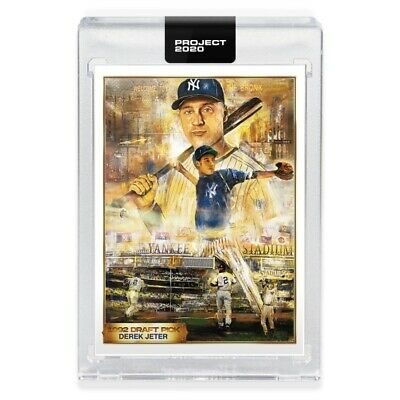 Topps PROJECT 2020 #82 - 1993 DEREK JETER RC by ANDREW THIELE - LIMITED - W/ Box