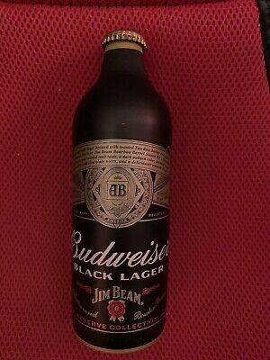 Budweiser Black Lager Jim Beam Beer Aluminum Bottle/Can