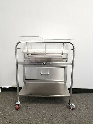 Blickman 8047SS Stainless Steel Bassinet with Acrylic Basket and Mattress
