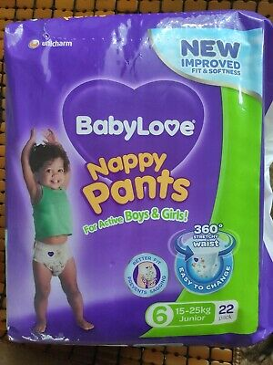BABYLOVE NAPPY PANT JUNIOR 22  3 items, 66packs total