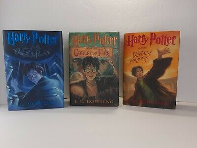 Lot Of 3 Hardcover Harry Potter Books