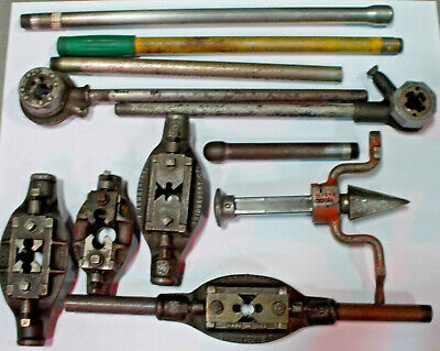"""Lot of 12 pieces 2"""" Pipe threaders and Rigid 341 Reamer"""