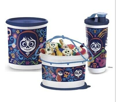 Tupperware Disney Coco Design Bucket-Tumbler And One Touch Container Set !!