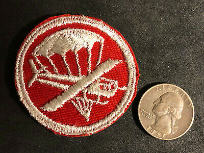 WWII US Army Airborne Officers Patch Paratrooper Orig. World War 2 Rare Red!