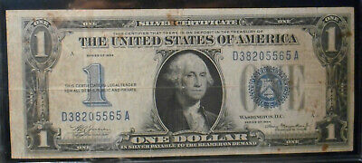 """1934 $1 """"FUNNY BACK""""  Silver Certificate -  Very Good Condition."""