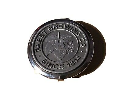 Round Metal Pabst Brewing Co. Pill Box