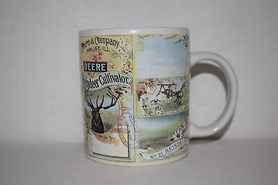Collectible John Deere Reindeer Cultivator Coffee Mug - Nostalgic Gibson Design