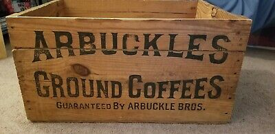 Arbuckles Ground Coffees Large Old Wooden Crate