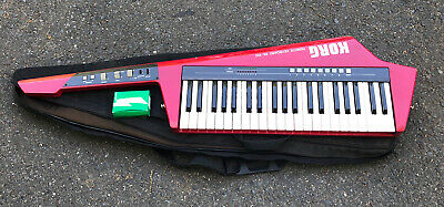 KORG RK-100 Synthesizer keyboard with BagCase RED Power Supply