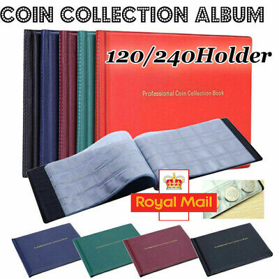 COIN ALBUM for 240 120 coins perfect for £1 COINS FOLDER BOOK COLLECTOR /BL2 UK
