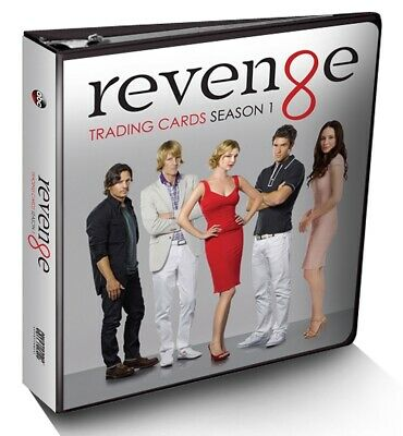 ABC's Revenge Season 1 cards 3-ring Binder Album w/ M14 Costume Wardrobe Card