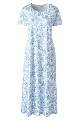 NEW Lands End Womens 100% Supima Cotton Short Sleeve Midcalf Nightgown M (10-12)