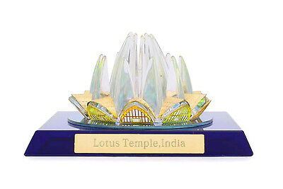 Crystal Made Lotus Temple Home Decorative Antique Showpiece / Coporate Gift