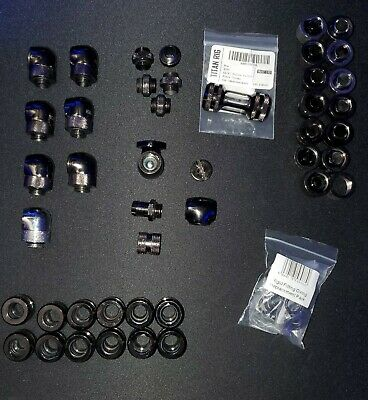 """XSPC assorted lot G1/4"""" 10mm ID, 14mm OD PETG Triple Seal Fitting! 40+ pieces!"""