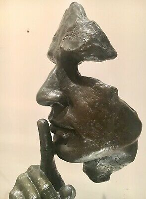 Silence And Serenity Solid Bronze Genuine Lost Wax Sculpture Unique Abstract Art