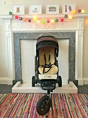 Mountain Buggy Swift Chilli Jogger Single Seat Buggy and Kaiser Sheepsking liner