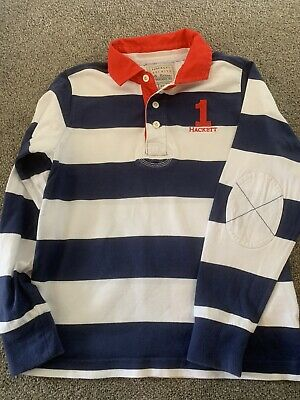Hackett Boys Rugby Shirt Size10