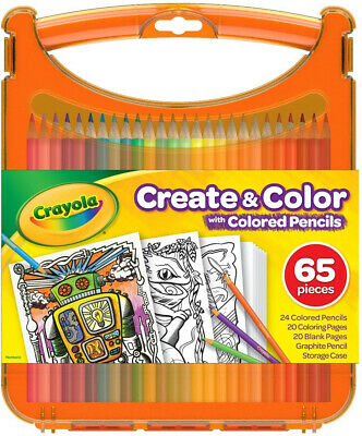 Crayola Create and Color with Colored Pencils, Travel Art Set, Great for Kids,