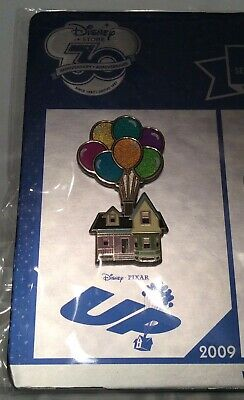 NEW Disney Store Up Pin Limited LE Anniversary Pixar Carl Ellie Balloons House