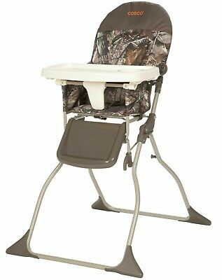 Baby Toddler High Chair Folding Portable Kid Eat Padded Seat Real tree Camo