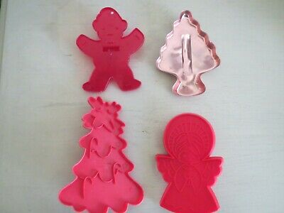 4 Vintage Christmas Cookie Cutters