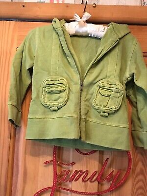 Girls Green Hooded Jacket Size 2 Years