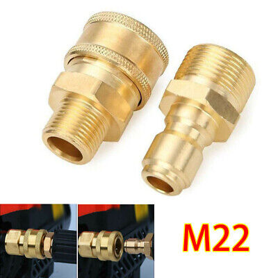 Pair Quick Release Pressure Washer Fittings Coupling Set Adapter Connector 15mm