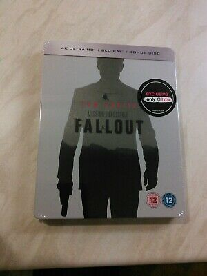 Mission Impossible: Fallout 4K steelbook hmv + blu ray + bonus disc sealed look@
