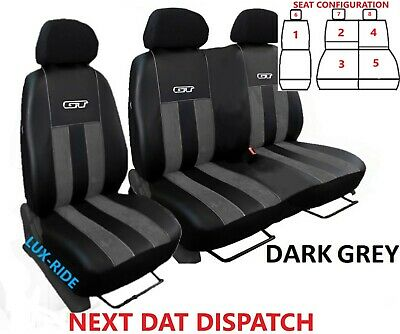 Ford Transit Connect 2014-20 Artificial Leather & Alicante Tailored Seat Covers