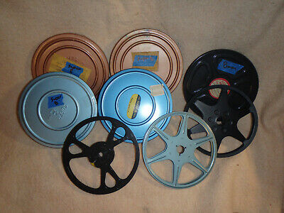 "Lot of 7 - Super 8 - 8mm - 5"" Film Reels - Free Shipping!!!"