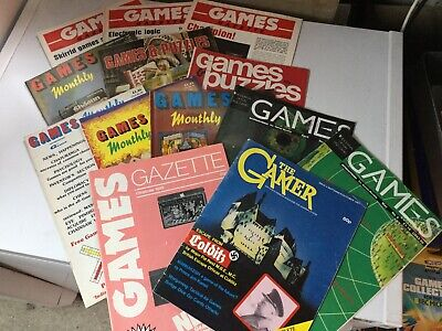 Various Games Magazines From The 1970s And 1980s Vintage As Per Photo