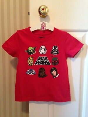 Boys star wars red t shirt for 3 year old
