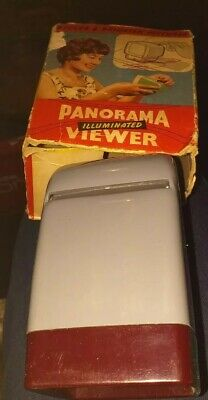 Vintage Collectable W&G Panorama Illuminated Slides Viewer In Original Box