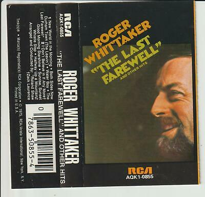 "Roger Whittaker -"" The Last Farewell ""-Cassette Tape Album -1975"