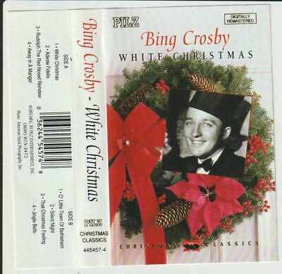 "Bing Crosby -"" White Christmas ""- Cassette Tape Album -1993"