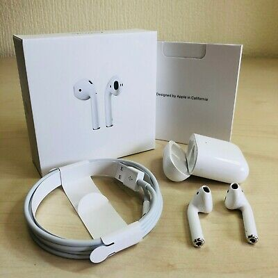 Apple AirPods 2nd Generation with Wireless Charging Case - White - Boxed