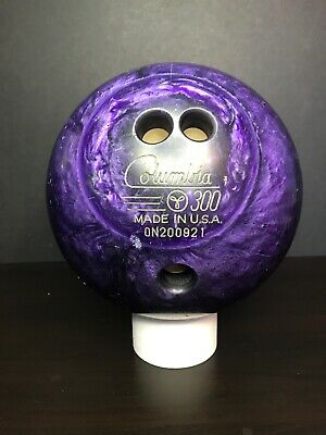 Columbia 300 Bowling Ball Made In USA. Purple Weight 10lb