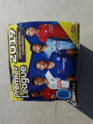 Topps Merlins Premier League Stickers Full Box Of 50 Packets
