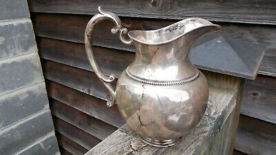 Sterling Silver Water Pitcher 3 1/2 Pts Harris & Shaper Monogramed