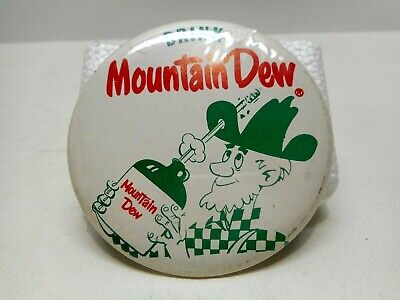 "Vintage - Mountain Dew ""Willy the Hillbilly"" -  Original Soda Pin Back 1960's."