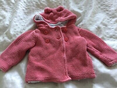 Baby Girls Pink Coat Size 3-6 Months From M&S