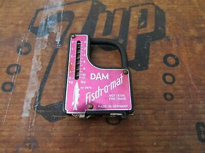 Vintage DAM Quick Fisch-o-mat Fisherman's Fish Scale & Tape Measure Germany